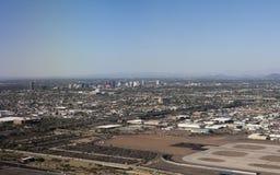 Bird-eye view of Phoenix, AZ. Arizona capital city of Phoenix; bird-eye view of downtown royalty free stock images