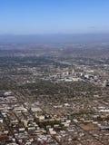 Bird-eye view of Phoenix, AZ. Arizona capital city of Phoenix; bird-eye view of downtown stock photos