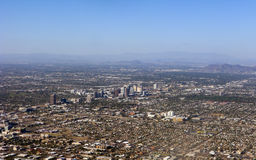 Bird-eye view of Phoenix, AZ Stock Photography