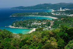 Bird eye view of Phuket, Thailand Royalty Free Stock Photos