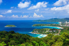 Bird eye view of Phuket viewpoint in Thailand Royalty Free Stock Photos