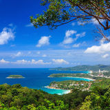 Bird eye view of Phuket viewpoint in Thailand Stock Photography