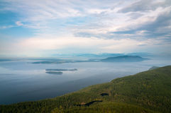 Bird-eye view of San Juan islands Stock Photo
