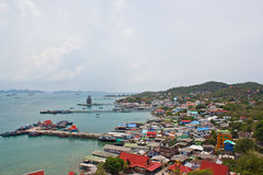 Bird eye view on seachang island Royalty Free Stock Photography