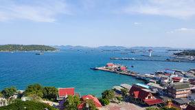 Bird eye view of Sichang island. Thailand royalty free stock image