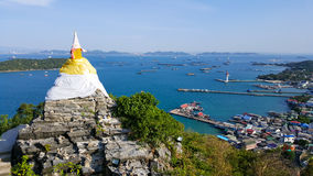 Bird eye view of Sichang island. Thailand royalty free stock photography