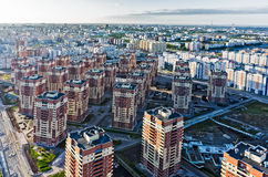 Bird eye view on sleeping neighborhood. Tyumen Royalty Free Stock Photography