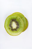 Bird eye view of stack slice kiwi fruit Stock Photography