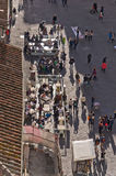 Bird eye view on streets of Florence Stock Photos