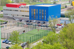 Bird eye view of tennis court in Kyiv, Ukraine Royalty Free Stock Photography