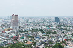 Bird eyes view of bangkok Stock Images