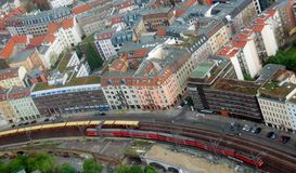 Bird eyes view of Berlin from Fernsehturm. royalty free stock photos