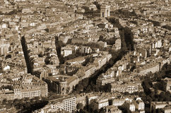 Bird eyes view of Paris Stock Photos