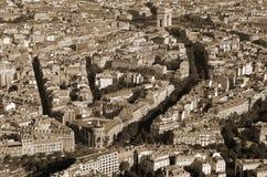 Bird eyes view of Paris Stock Photos