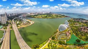 Bird eyes view of Singapore City skyline. In Singapore. panorama Stock Image