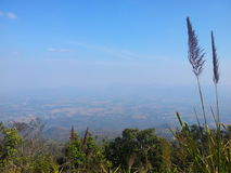 Bird eyes view. On the top of mountain in Thailand Royalty Free Stock Images
