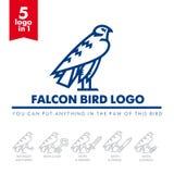 Bird falcon logo 04 Stock Photography