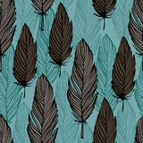 Bird feather pattern Royalty Free Stock Images