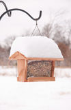 Bird Feeder Filled Up With Seeds Royalty Free Stock Photos