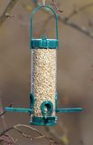Bird feeder full of seeds Stock Photography