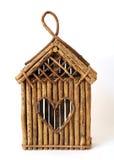 Bird feeder house Stock Image