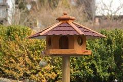 Bird feeder house Stock Photography