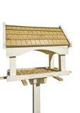 Bird feeder house. On white background royalty free stock image