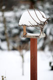 The bird feeder in winter Royalty Free Stock Images