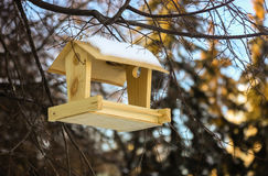 Bird feeders with snow Stock Photos
