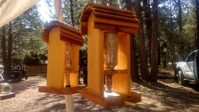 Bird Feeders. Sold in Forest Lakes stock image
