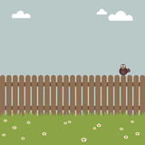 Bird on a fence Royalty Free Stock Image