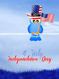 Bird with flag for Independence Day Royalty Free Stock Photography