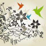 Birds a flower4 Stock Photography