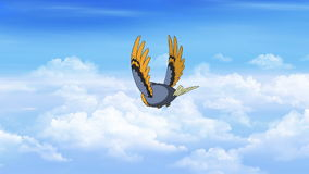 Bird in Flight. Back View