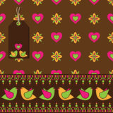 Bird floral wrapping Stock Image