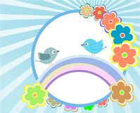 Bird and flower background Stock Images