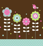Bird and flower background design Royalty Free Stock Image