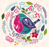 The bird and flower background Royalty Free Stock Image