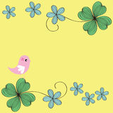 Bird and flower card pattern design royalty free stock photography