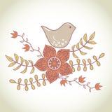 Bird in flowers Stock Image