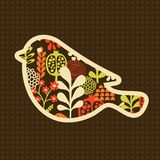 Bird with flowers. Royalty Free Stock Photo