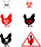 Bird_flu. Raster graphic depicting various symbols for bird flu Stock Image