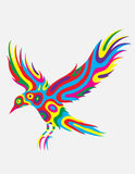 Bird flying abstract colorfully Stock Photo