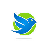Bird flying icon logo Stock Images