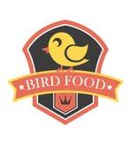 Bird food emblem Stock Photography