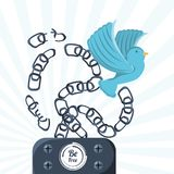 Freedom lifestyle design. Bird of freedom lifestyle and raised theme Vector illustration Stock Photography