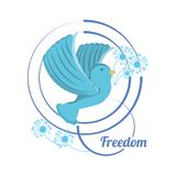 Freedom lifestyle design. Bird of freedom lifestyle and raised theme Vector illustration Royalty Free Stock Images