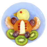 Bird of fruit on a  plate on a white background Stock Photo