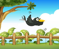 A bird in the garden. Illustration of a bird in the garden Royalty Free Stock Images