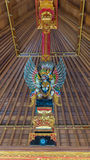 Bird Garuda in interior of temple Royalty Free Stock Photography